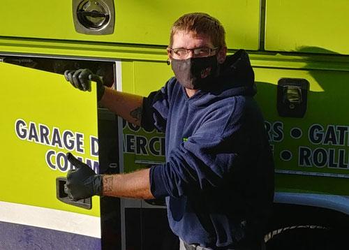 Masked Service Technicians